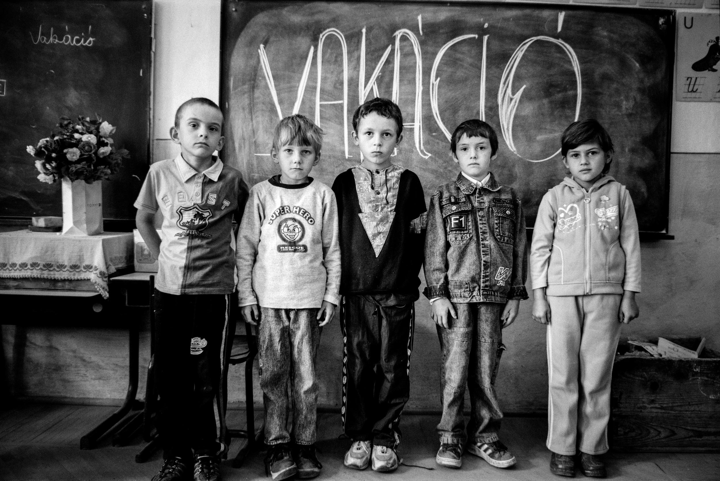 The last class of elementary school. Siklód, Romania, 2009
