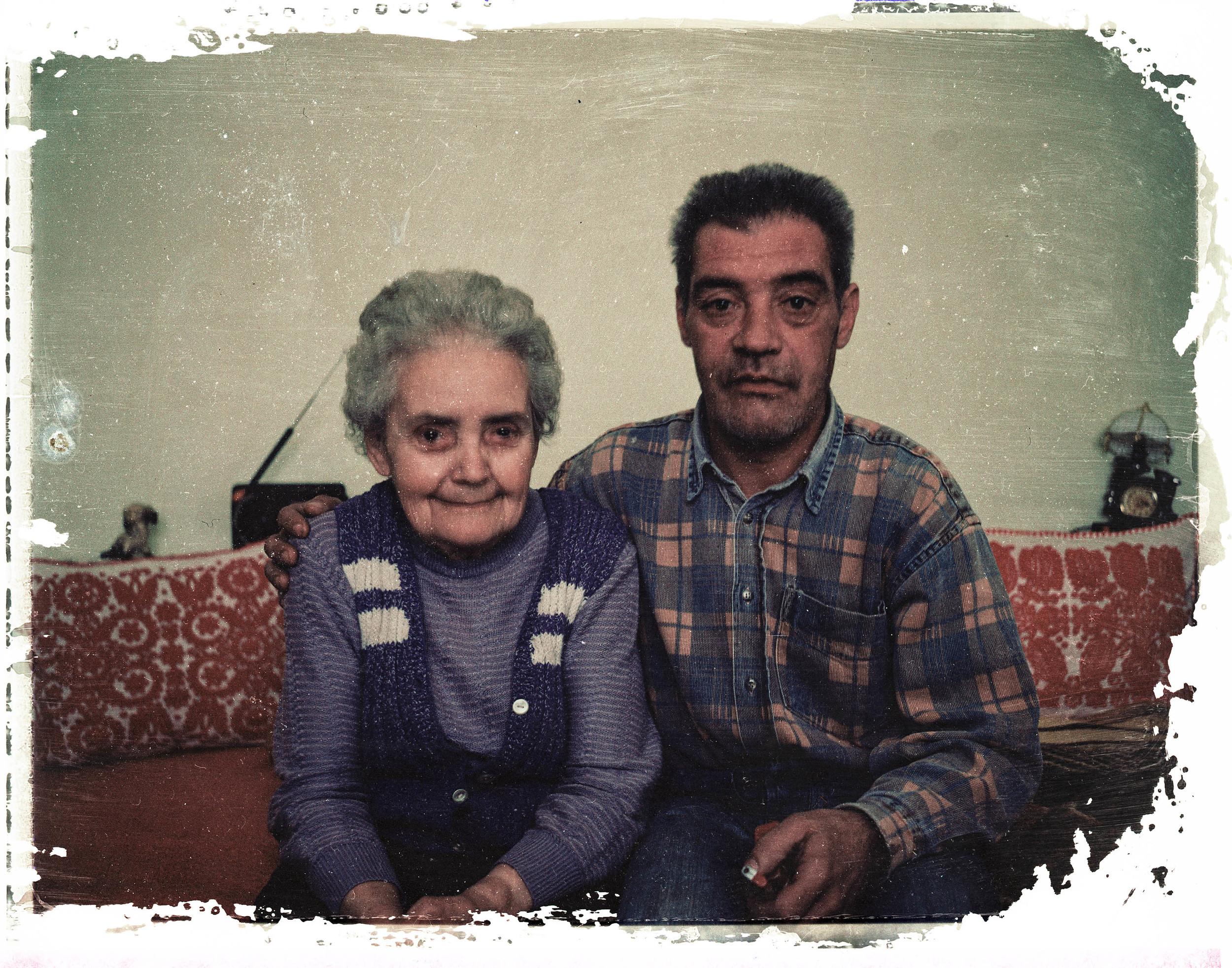 Auntie Sárika with her son. Marosvásárhely, Romania, 2009