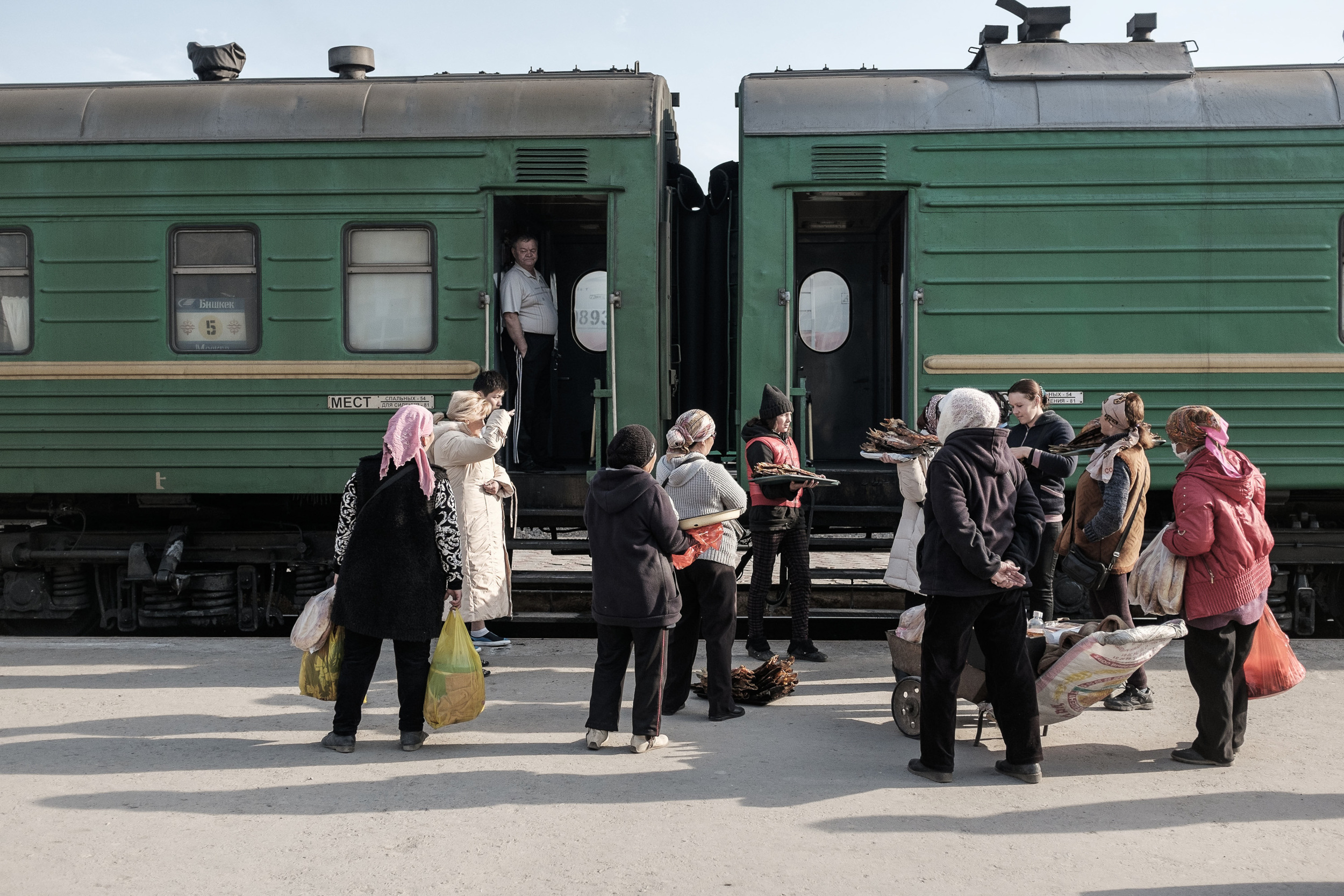 Shieli train station in South-East Kazakhstan. On assignment for Hungarian daily Magyar Nemzet,  see more here .