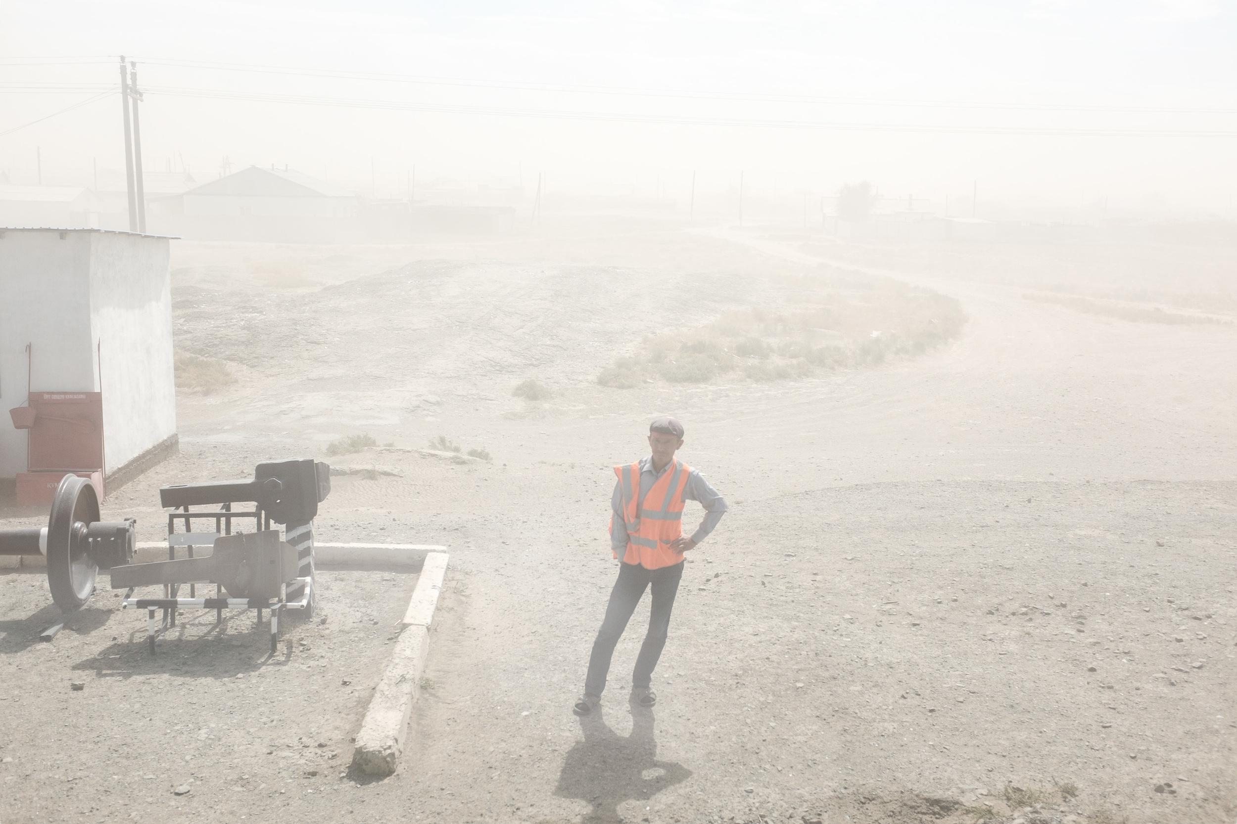 Heavy sandstorm in Sagiz (South-West Kazakhstan).