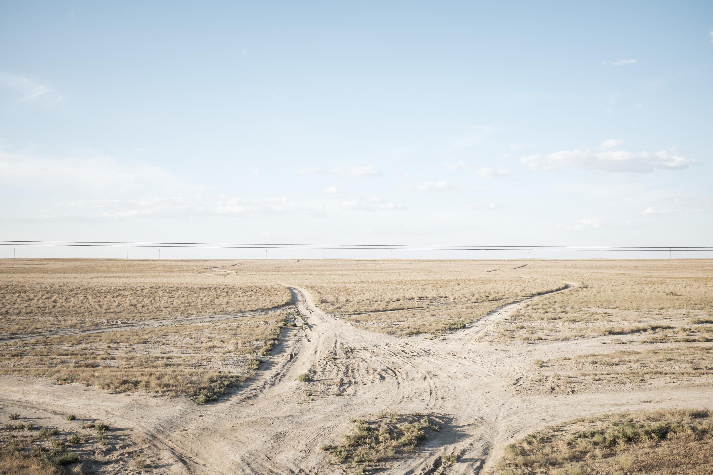 Ordinary landscape in South-West Kazakhstan.