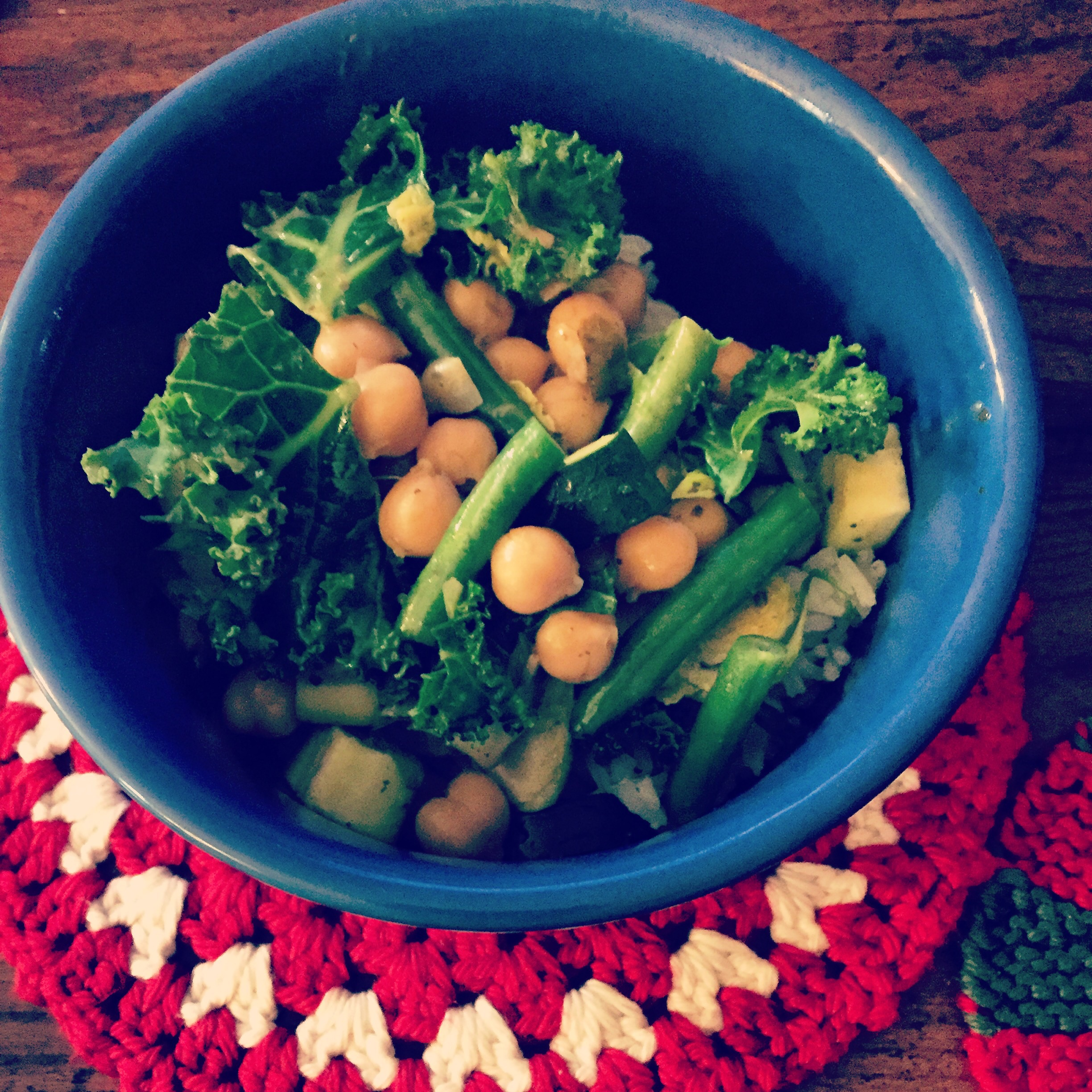 Chickpea and veggie green curry!