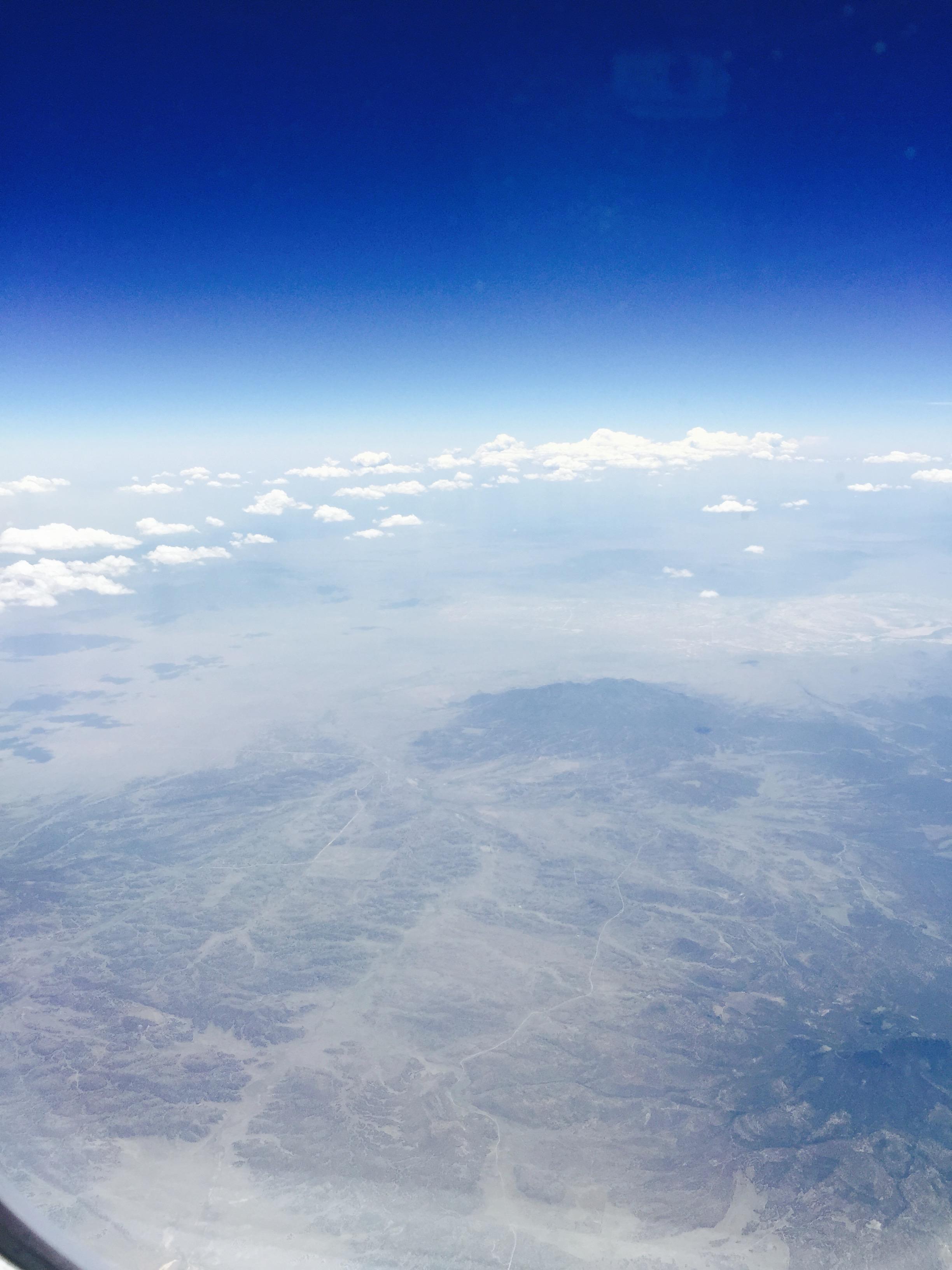 Flying over the mighty Arizona Desert