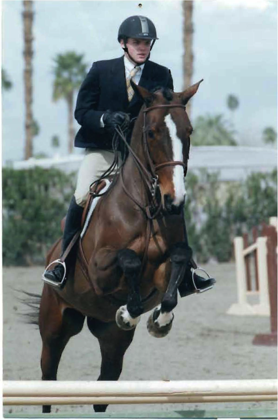 Riding my horse Felicity in a competition