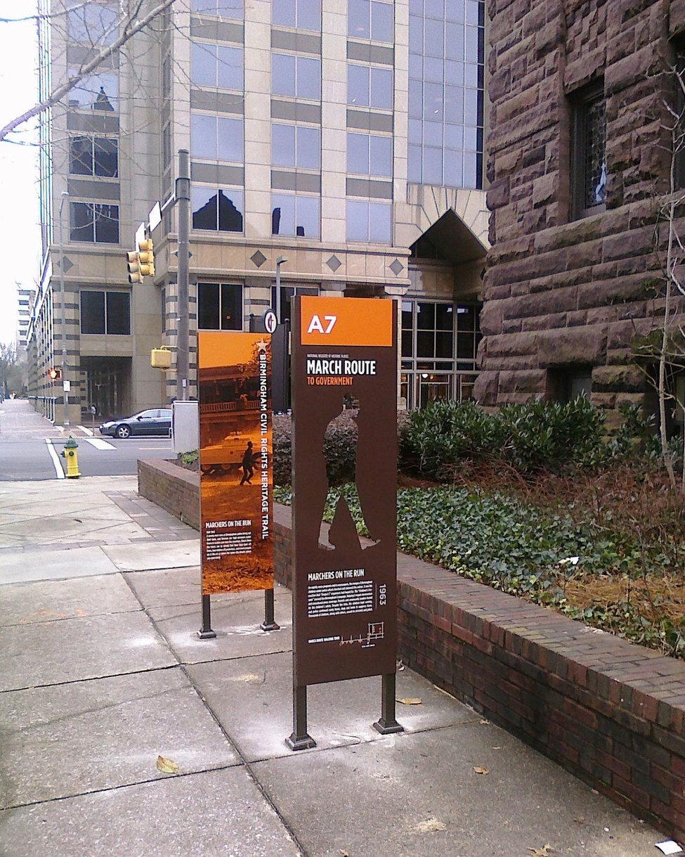 A stop on the Birmingham Civil Rights Heritage Trail.   photo by Andre Natta, Flickr