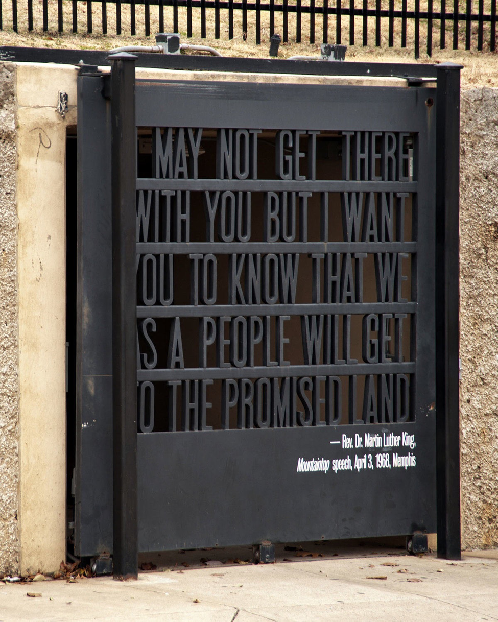 Gate at the Civil Rights Museum   photo by Carl Wycoff, Flickr