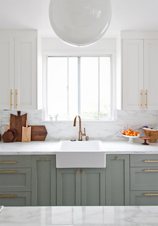 Pale Green Kitchen Design | Sarah Sherman Samuel | Interior Design | www.foundandkept.com