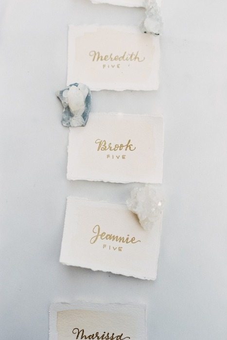 Unique Mineral Crystal Escort Cards | Wedding Design | www.foundandkept.com