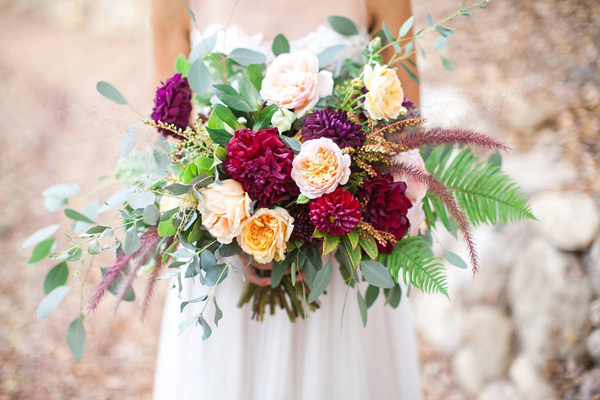 Bohemian Colorful Bridal Bouquet | Wedding Design | www.foundandkept.com