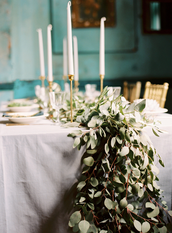 Eucalyptus Garland | Wedding Design | www.foundandkept.com