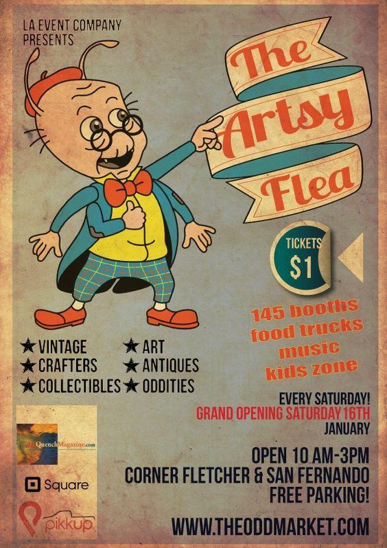 The Artsy Flea | Los Angeles | www.foundandkept.com