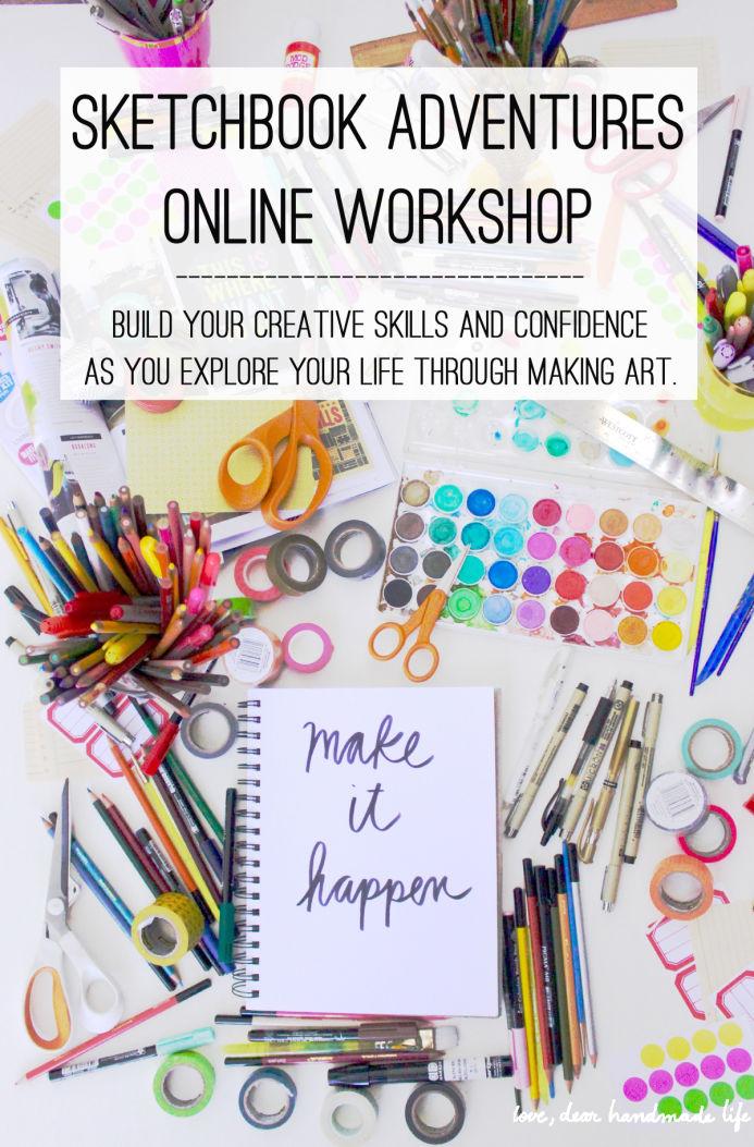 Dear Handmade Life | Sketchbook Adventures Workshop | www.foundandkept.com