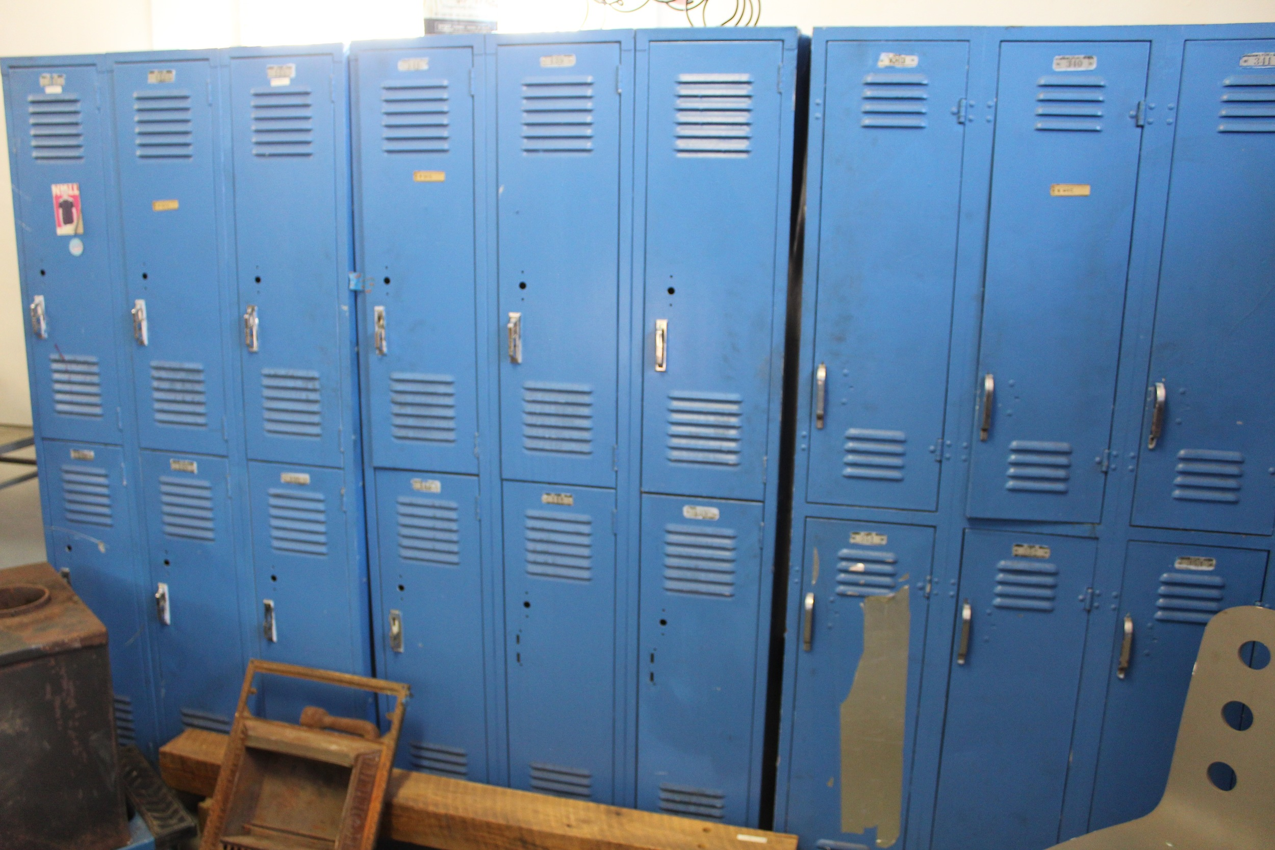 Blue Lockers | Silverado Salvage | www.foundandkept.com