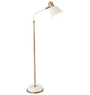 Rejuvenation White + Brass Task Lamp | www.foundandkept.com