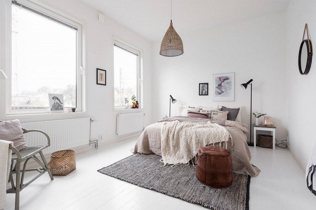 Boho Minimalist Bedroom   Interior Design   www.foundandkept.com