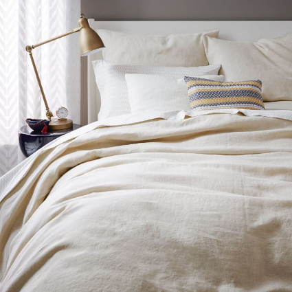 West Elm Washed Linen Bedding $189