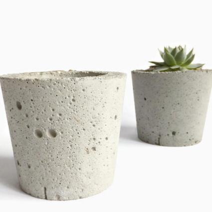 Beton Deko Concrete Planters $6