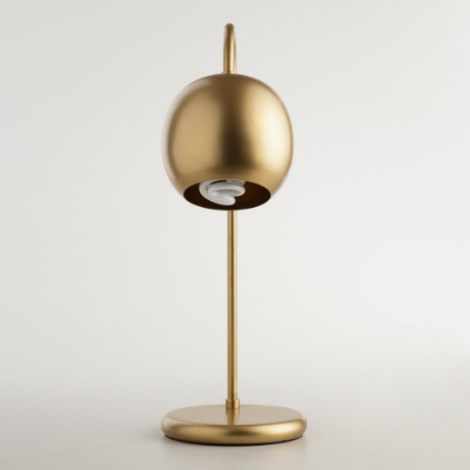 World Market Gold Table Lamp $50