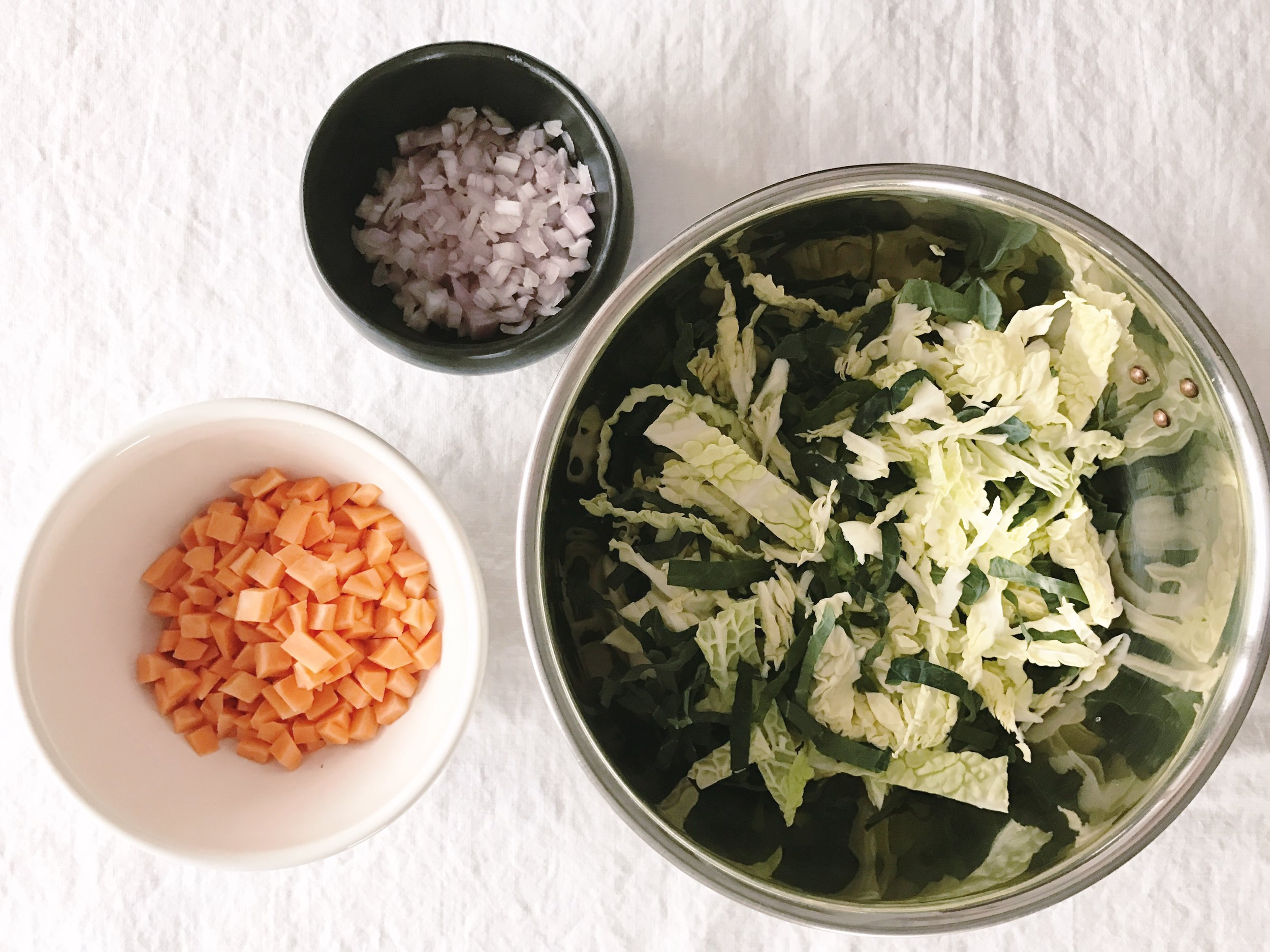 In the Kitchen   Warm Cabbage + Sweet Potato Bowl   Found + Kept