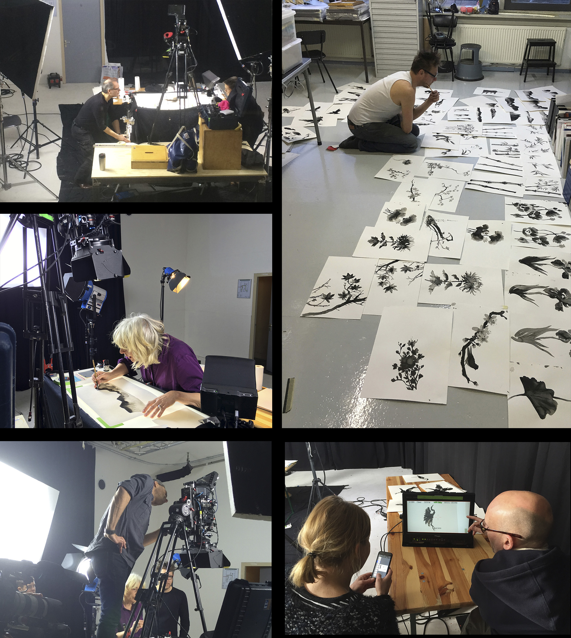 Making of: studio shoot and filmimg artwork