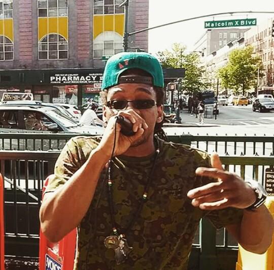 Image- I of Afrikan Kartel Holding A Vibez Downtown Harlem  125th Street & Malcolm X Blvd.!!!!!!!