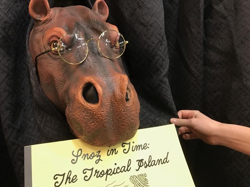 Snoz the hippo puppet