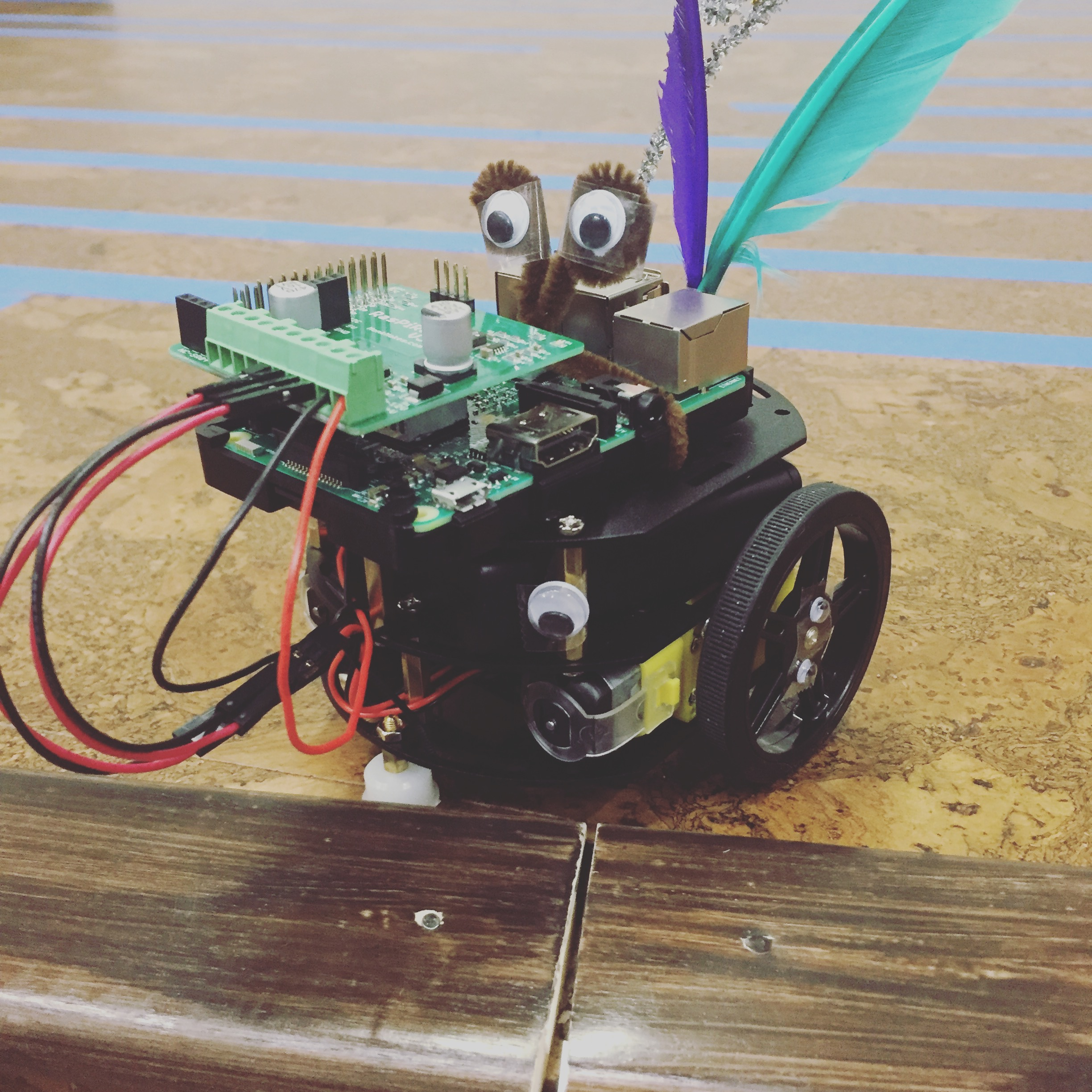 This Googley-Eyed Wonder Robot Car   was made by super inspiring Raspberry Pi Hackathon participants. It fills us with bubbles of joy, hope of good things to come, and proof that good things are already here.