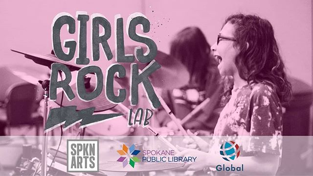 See the bands formed at Girls Rock Lab summer camp perform the songs they've created!  Girls Rock Lab provides workshops, mentors and a space where girls are empowered leaders and collaborators. Camp participants form bands, write songs and perform them at this memorable concert.  Saturday, August 17, 7-9pm at the downtown Spokane Public Library, 906 W Main Avenue.  Girls Rock Lab is generously sponsored by @global_cu, made possible with funds from @spokanearts Grant Awards and donors, and held in partnership with the @spokanepubliclibrary.  #girlsrocklab #rocknrollcamp #spokane #spokanemusic #spokaneevents #sparkcentral