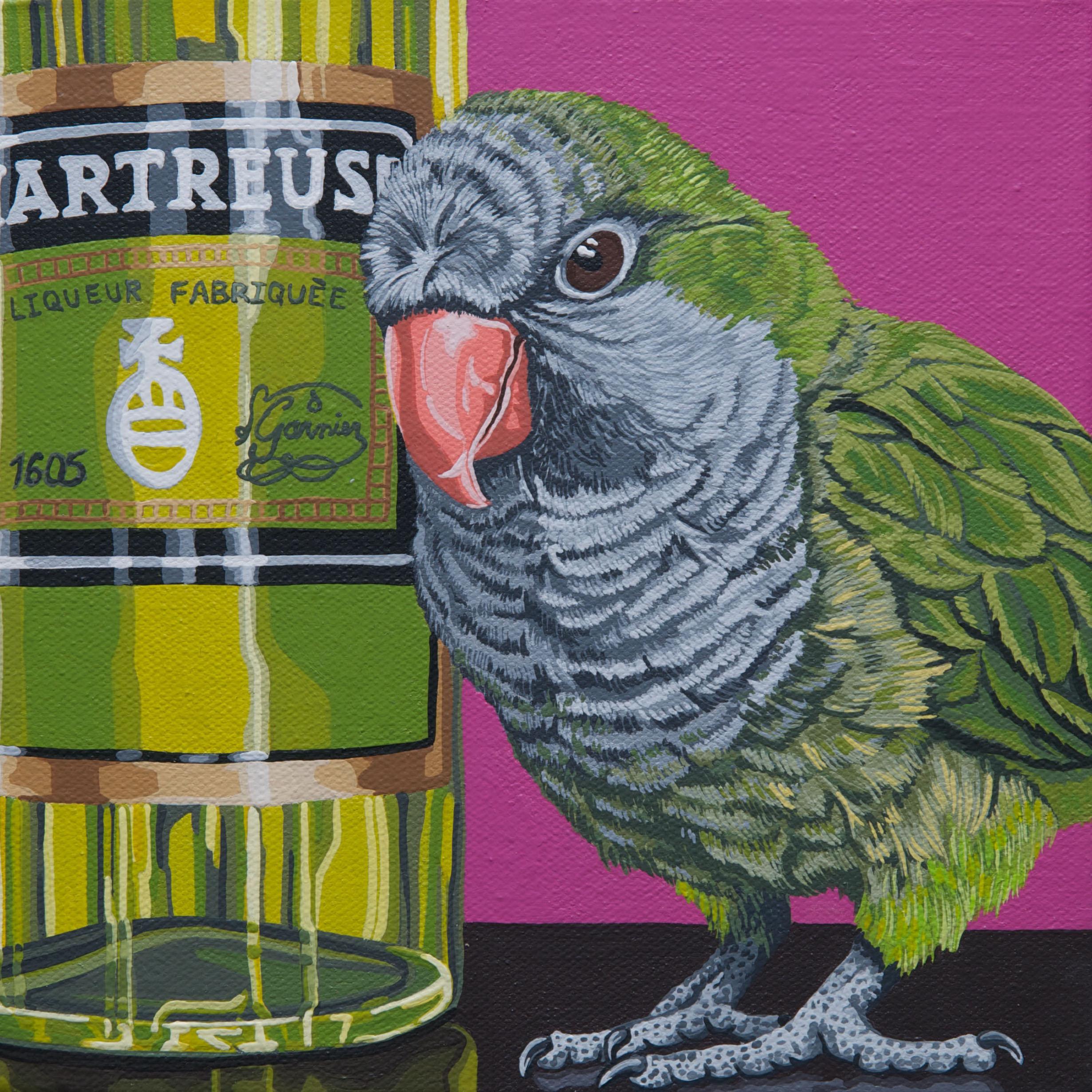 """Harry's Colorsake"", latex enamel on canvas, 10""x 10"", 2012-2013"