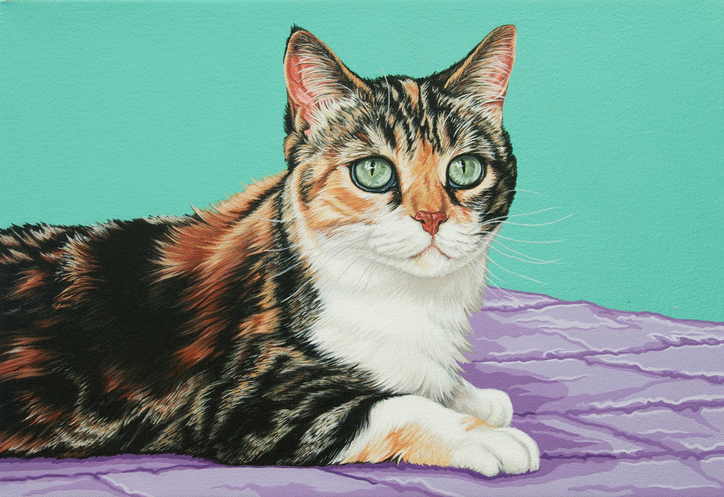 """Milo"", latex enamel on canvas, 11""x 16"", 2015"
