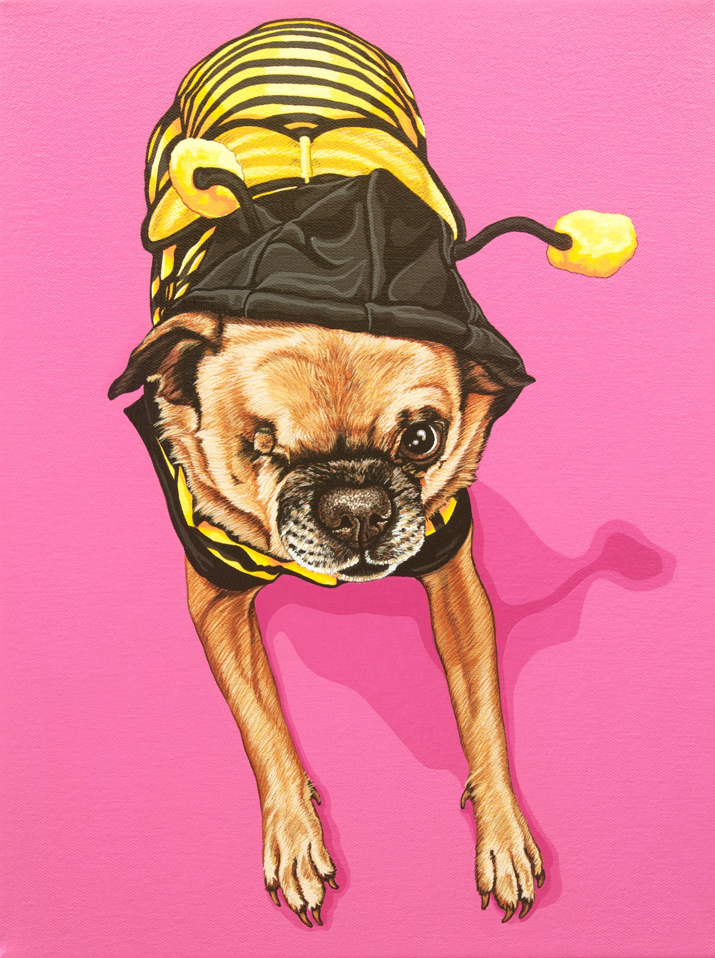 """Penelope"", latex enamel on canvas, 12""x 16"", 2014"