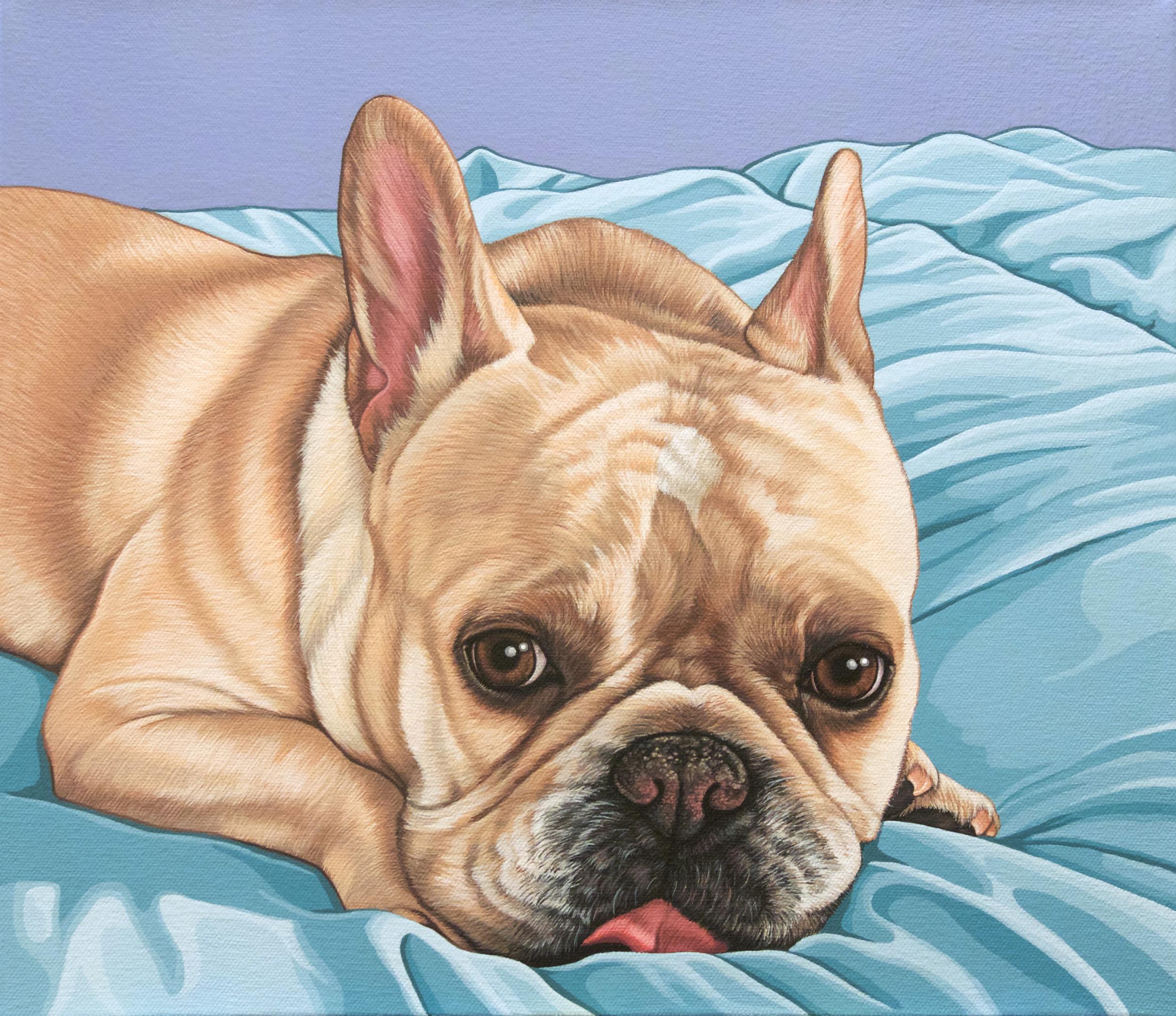 """Ricky"", latex enamel on canvas, 12"" x 14"", 2016"