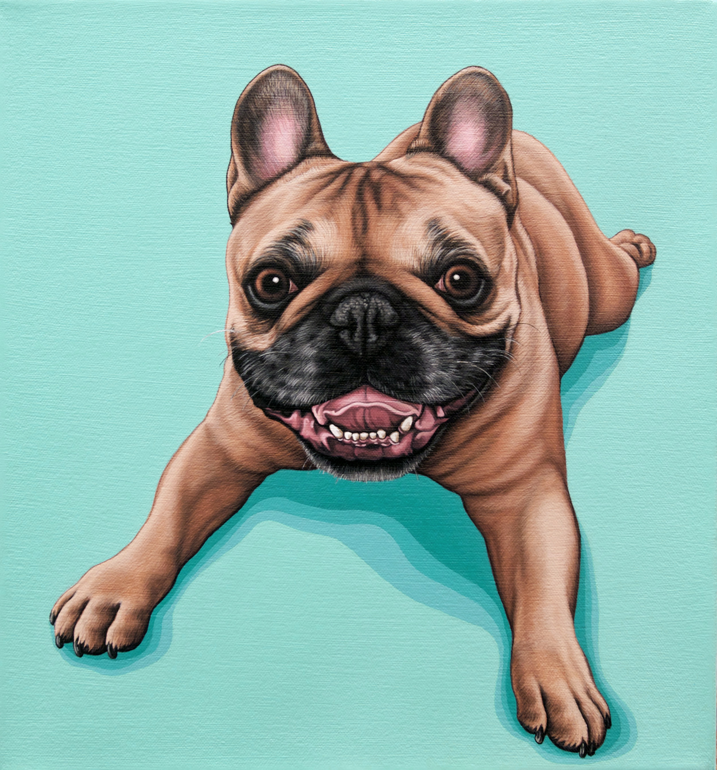 """Rocky"", latex enamel on canvas, 12"" x 12"", 2019"