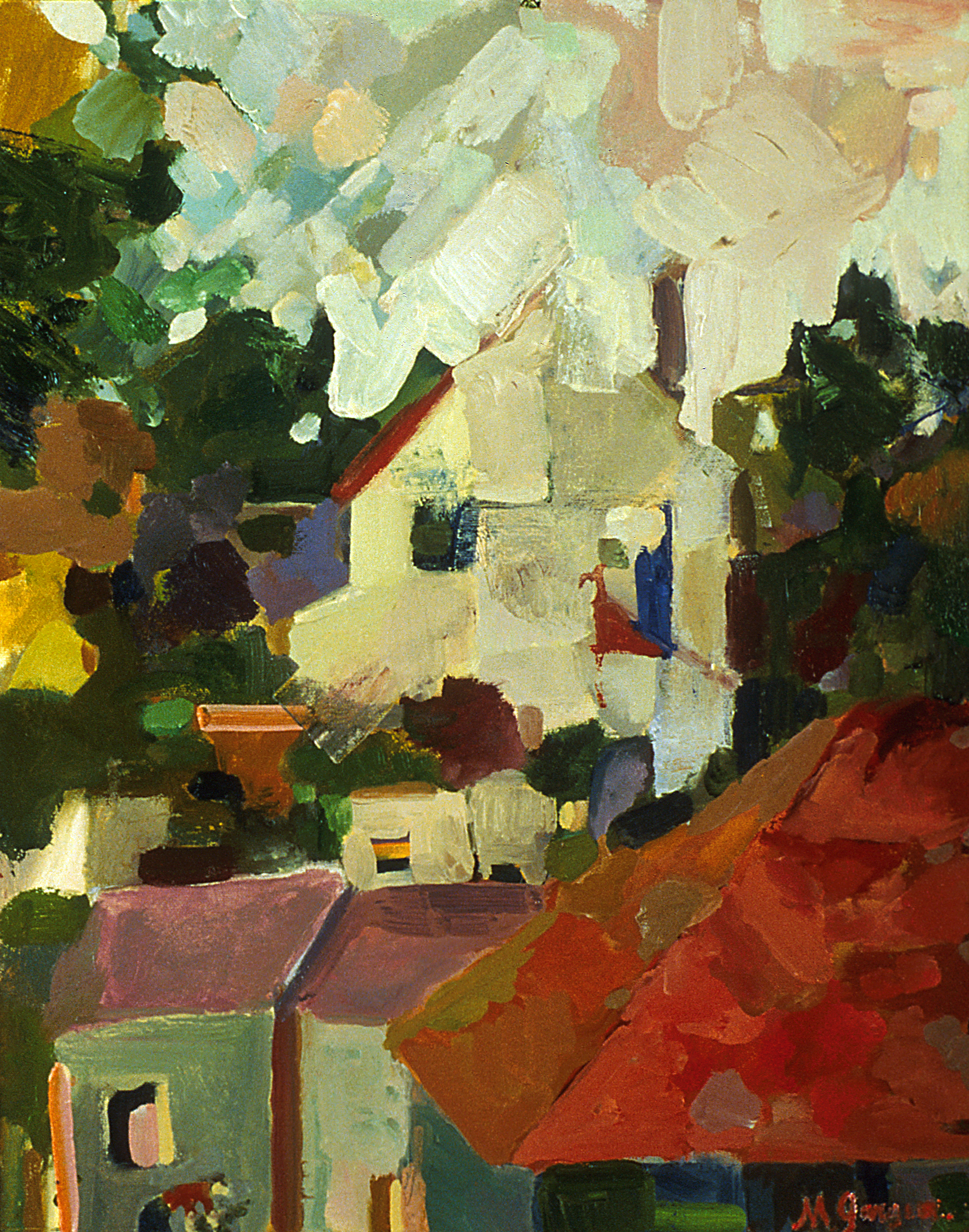 Berkley Bungalow  26 x 30 inches Oil on Canvas 2014