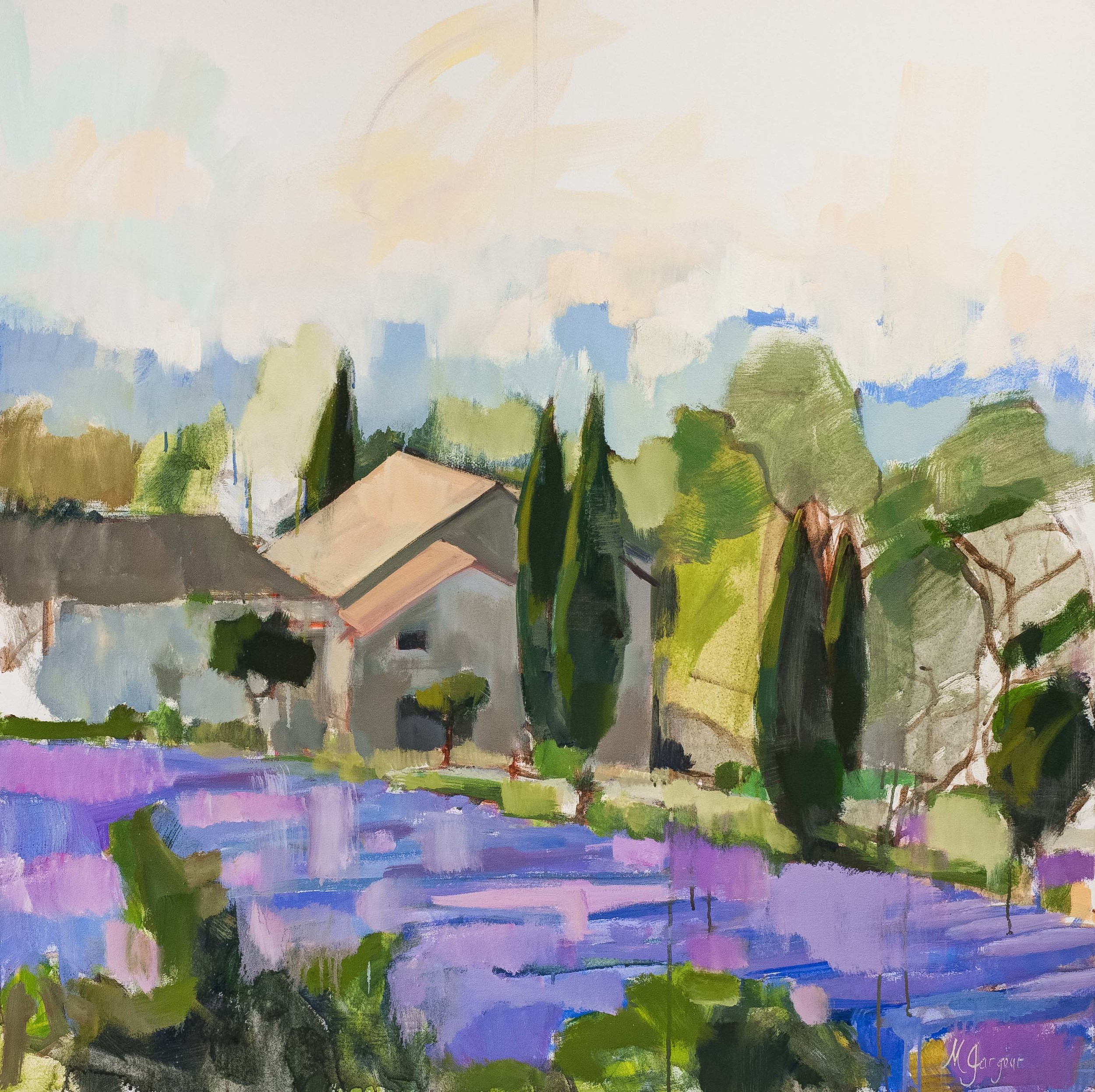Lavender of Provence  50 x 50 inches Oil on Canvas 2014