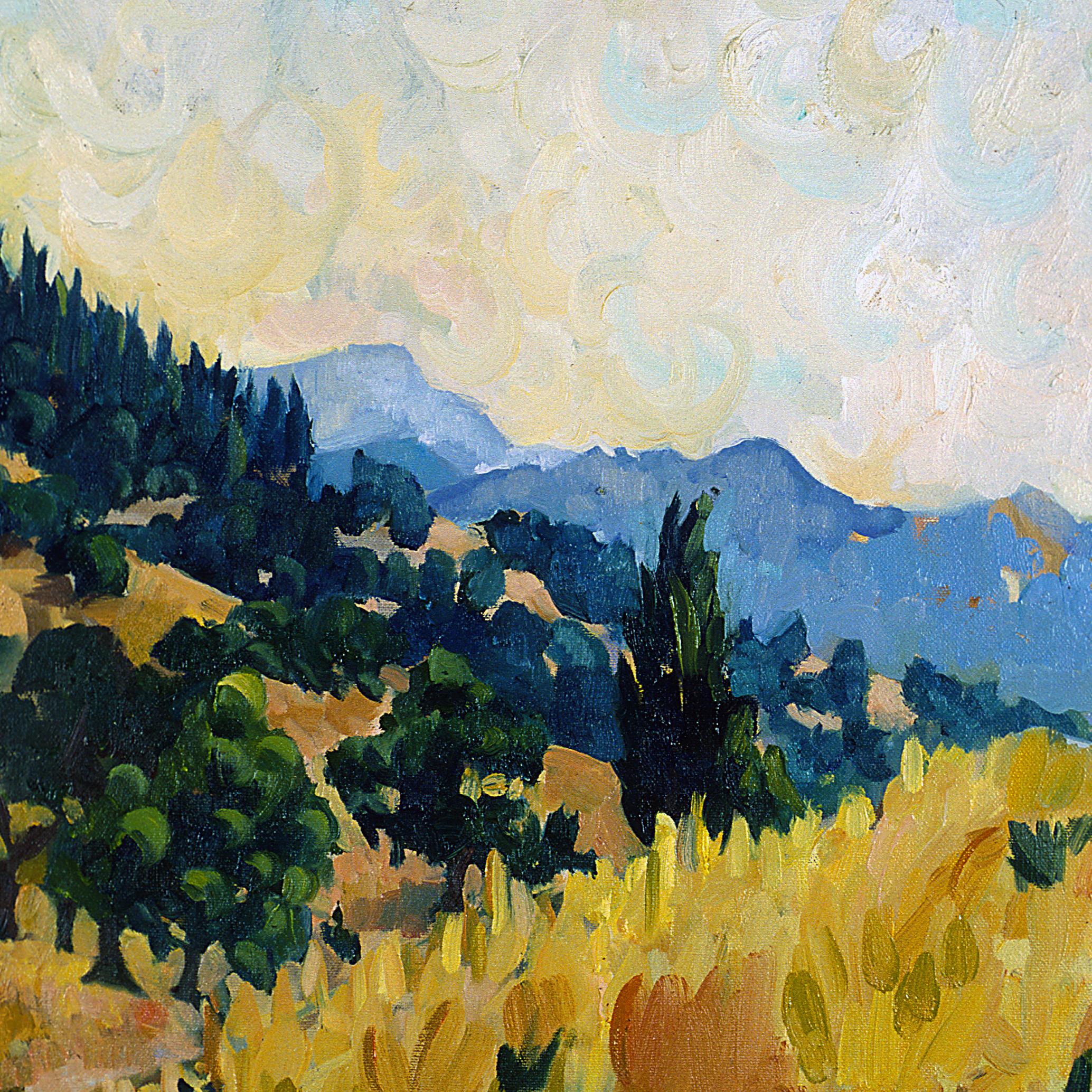 Tea in Sonoma  30 x 30 inches Oil on Canvas 1998