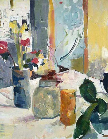 Deconstructed Still Life  36 x 24 inches Oil on Canvas 1998
