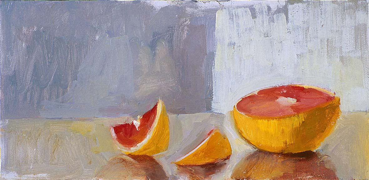 Glowing Grapefruits  Oil on Canvas 2001