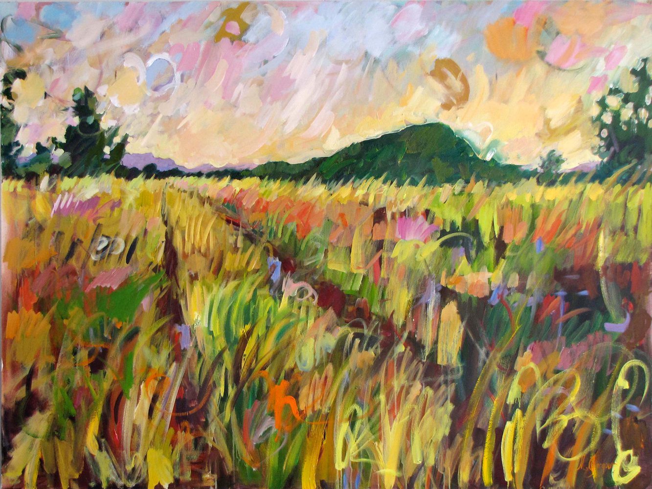 Sparkling Path  58 x 74 inches Oil on Canvas 2011