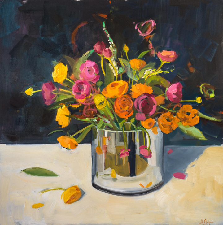 A Bouquet for You  48 x 48 inches Oil on Canvas 2014