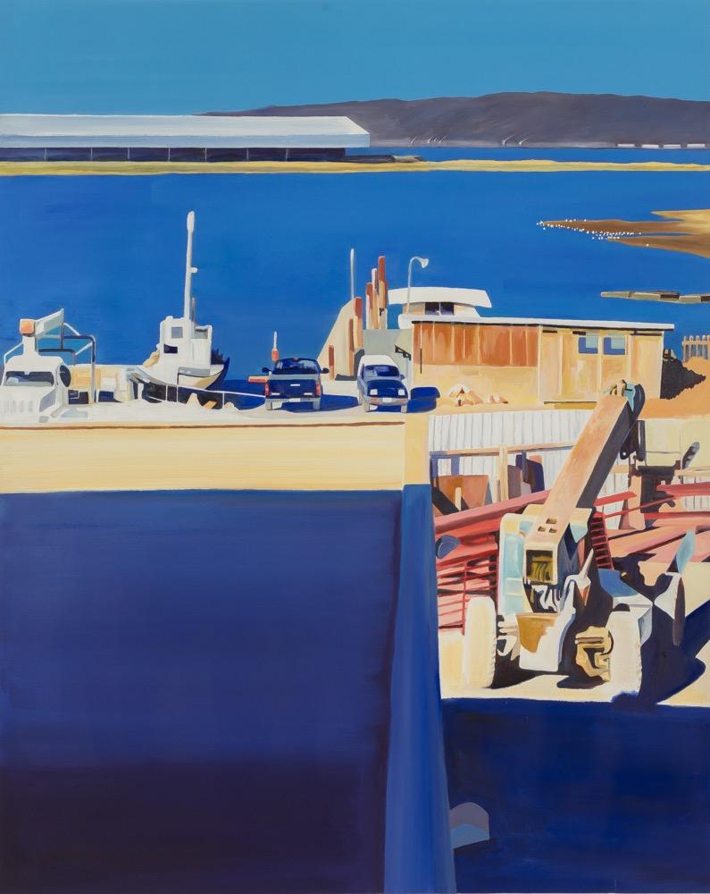 "BLUE WINDOW, oil/canvas, 60""x48"", 2017"