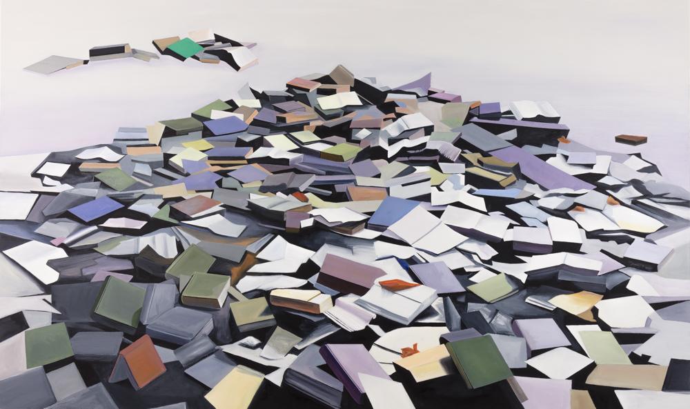 "Abandoned Books 2, 72""x120"""
