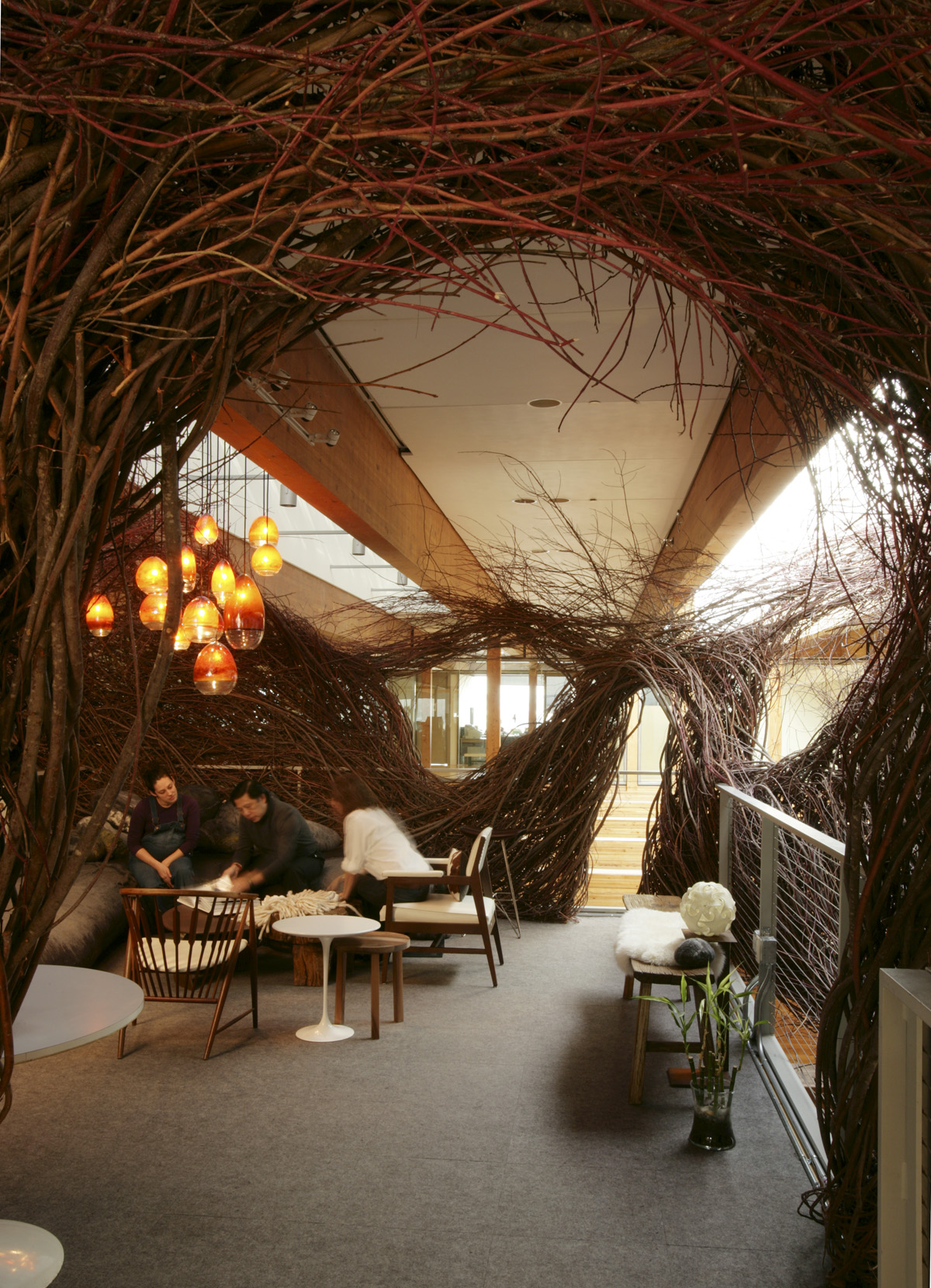 Wieden+Kennedy HQ Nest, Portland, Oregon, USA (with Patrick Dougherty)