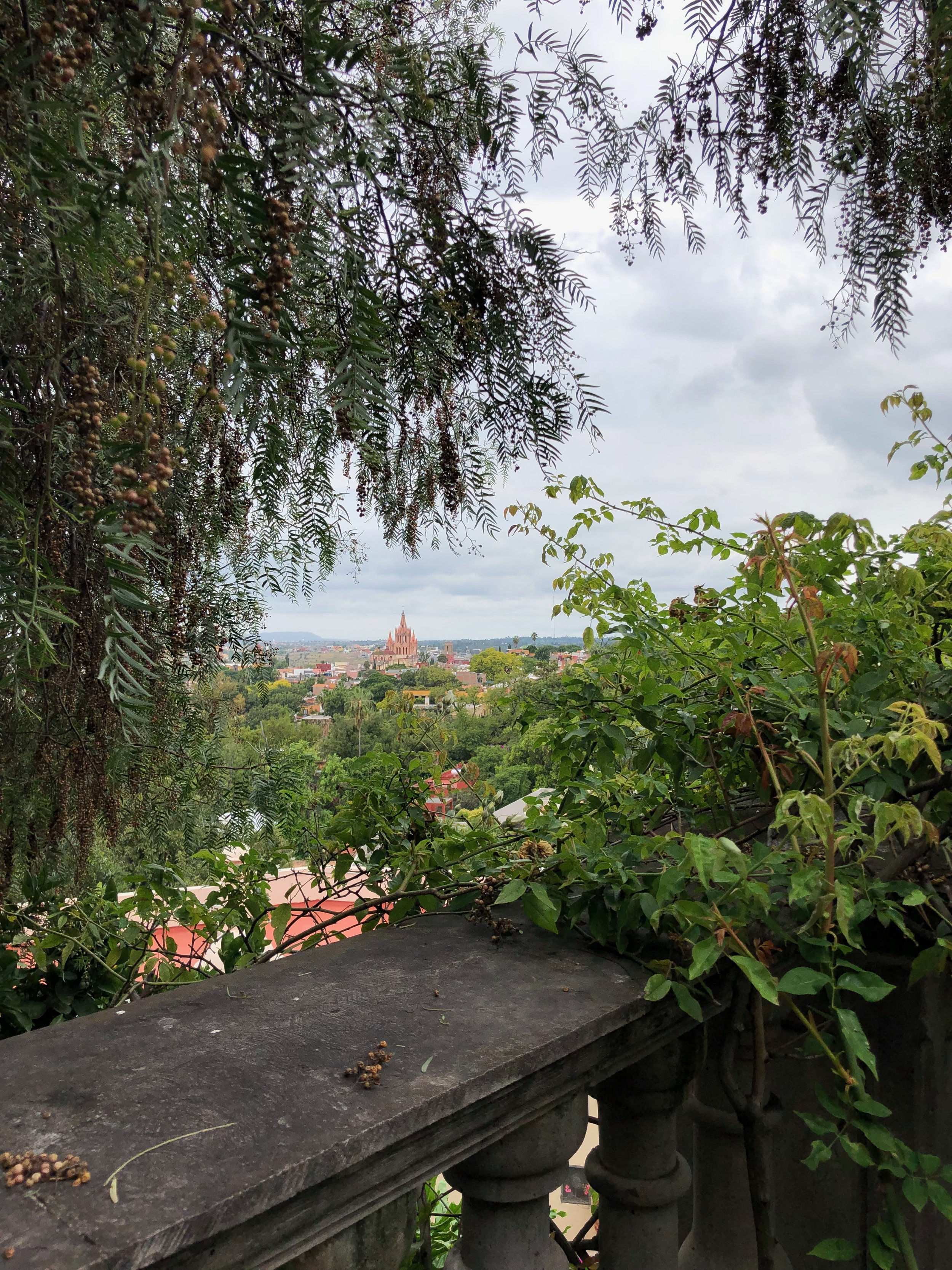 View on San Miguel from the hacienda we Airbnb'ed