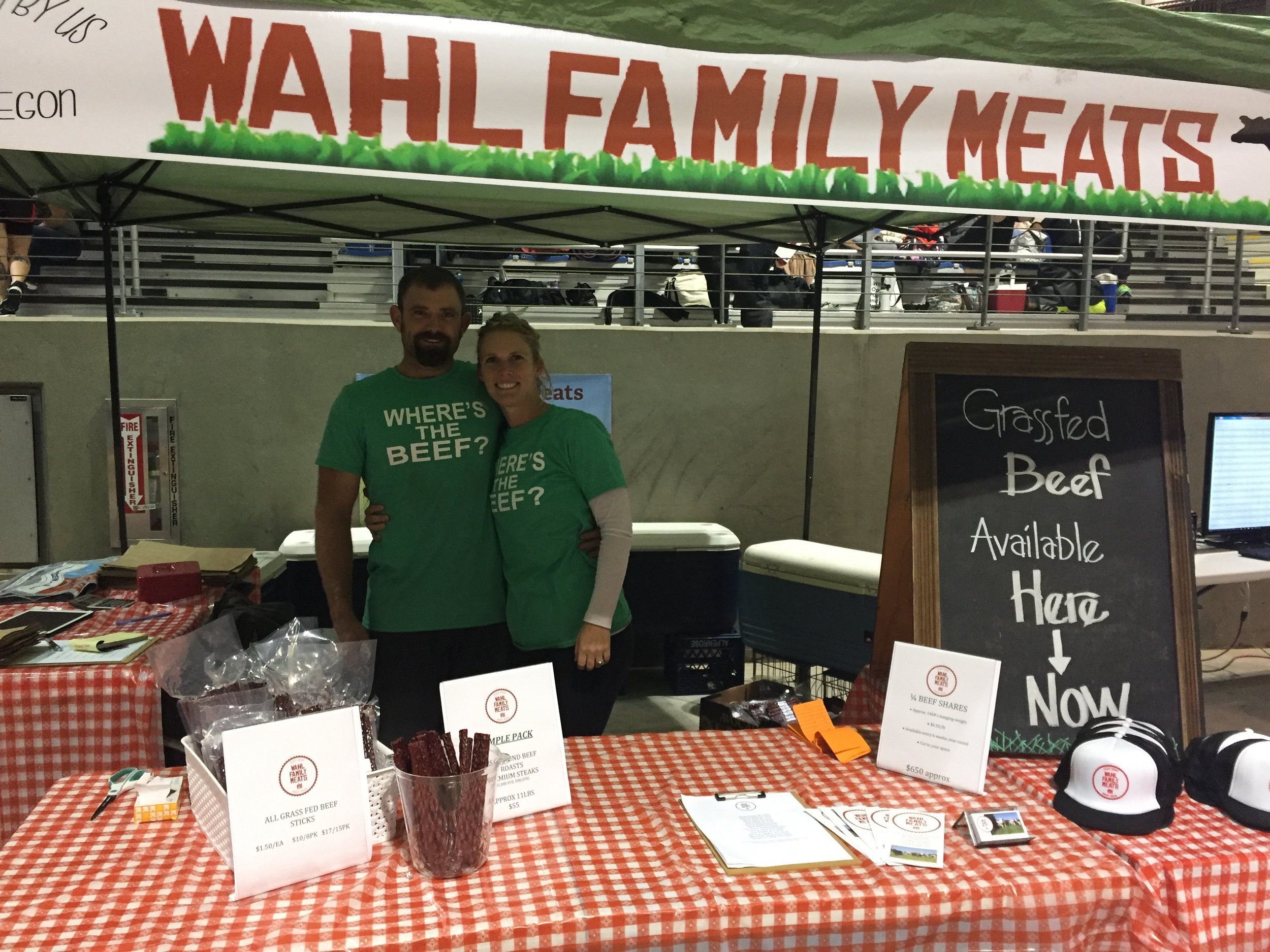 I hosted a booth at the NW FIT GAMES Gobbler Gauntlet in November 2016. My husband, Levi (left) competed on a team. We sold LOTS of our pepperoni sticks there!