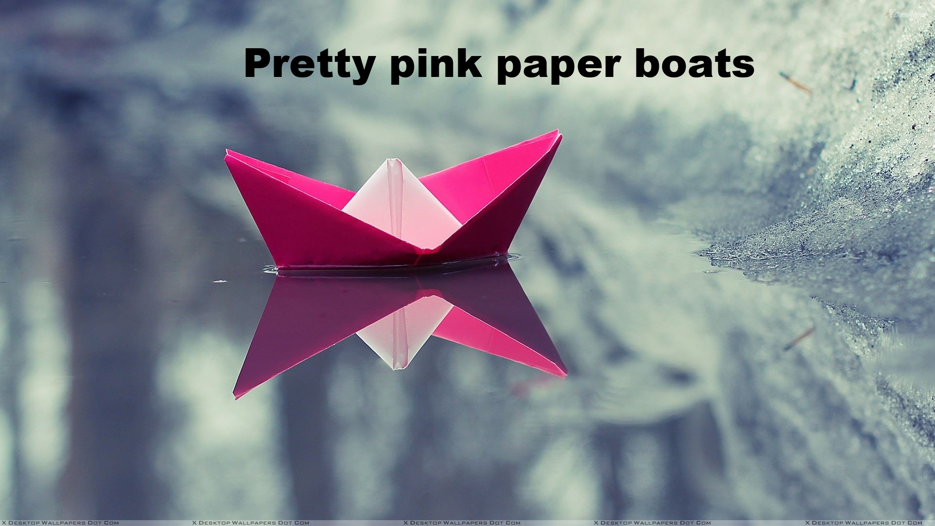 A little pink paper boat