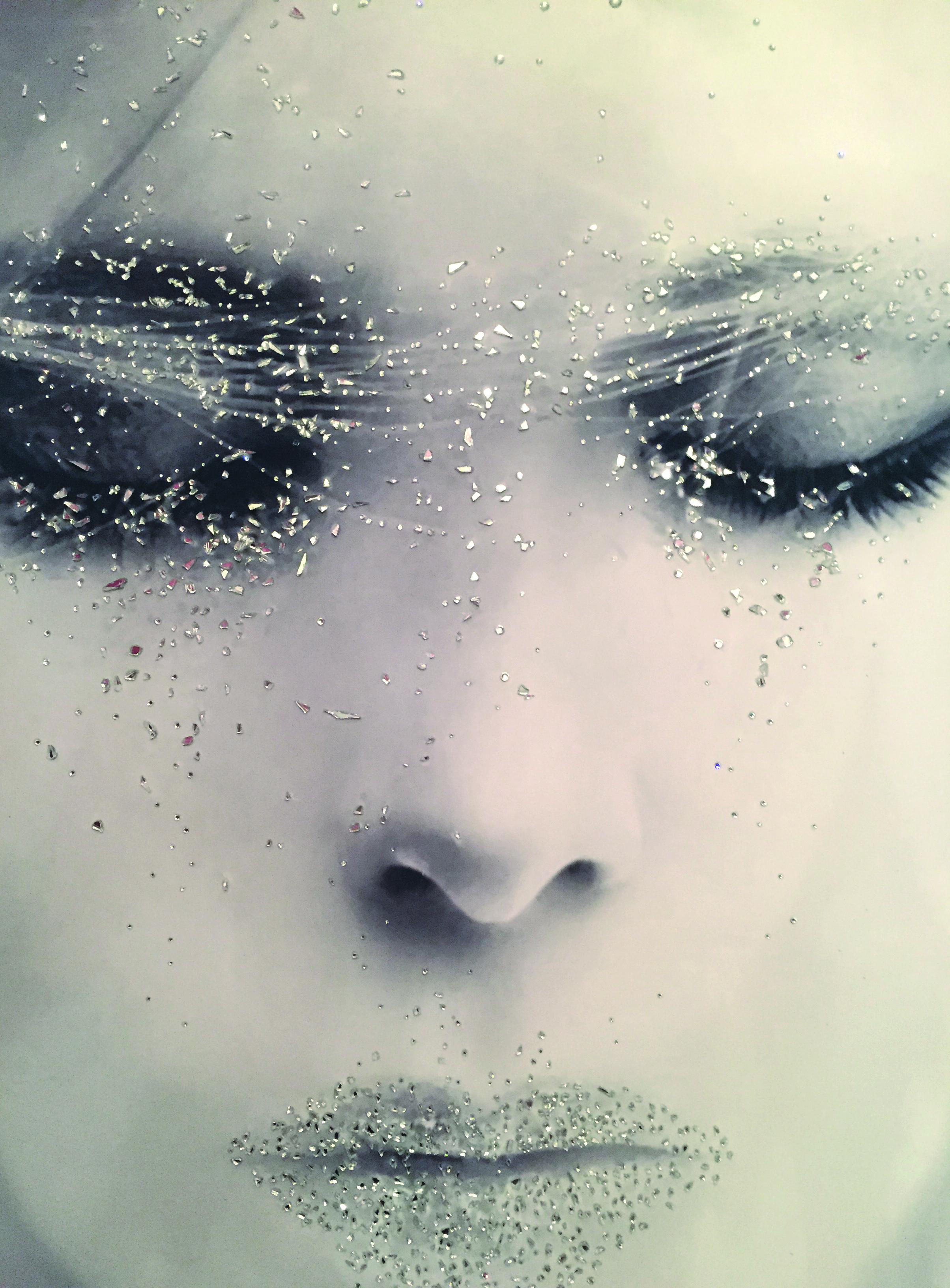 ghiaccio - VanitartCollezione Le Donne d'EpocaMisura 70x100 cmLavorazione in cristalli Swarovski e Specchi