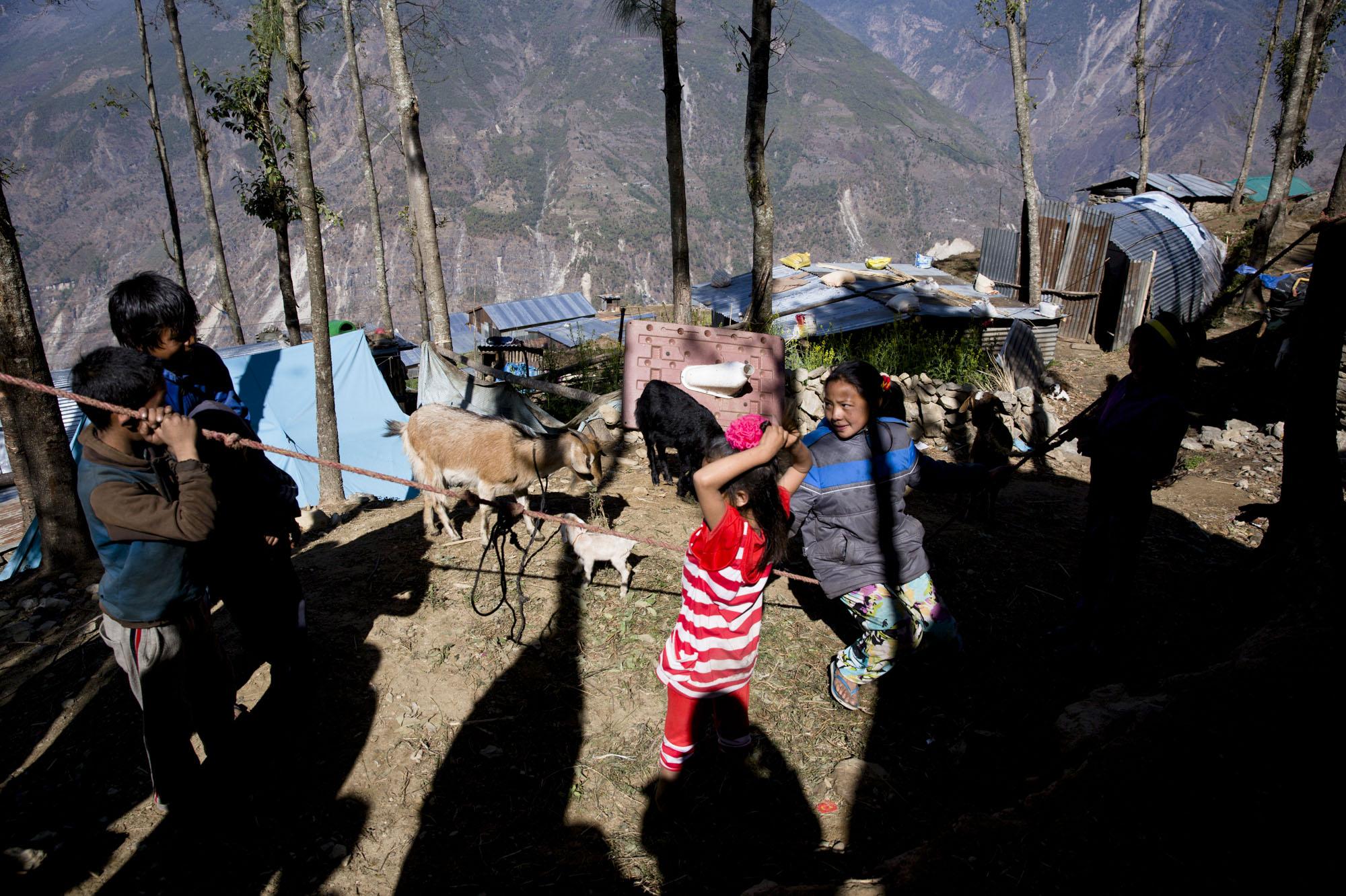GRANG:  Landsbyen Grang ligger på 2000 meters høyde, nærme grensen til Tibet.