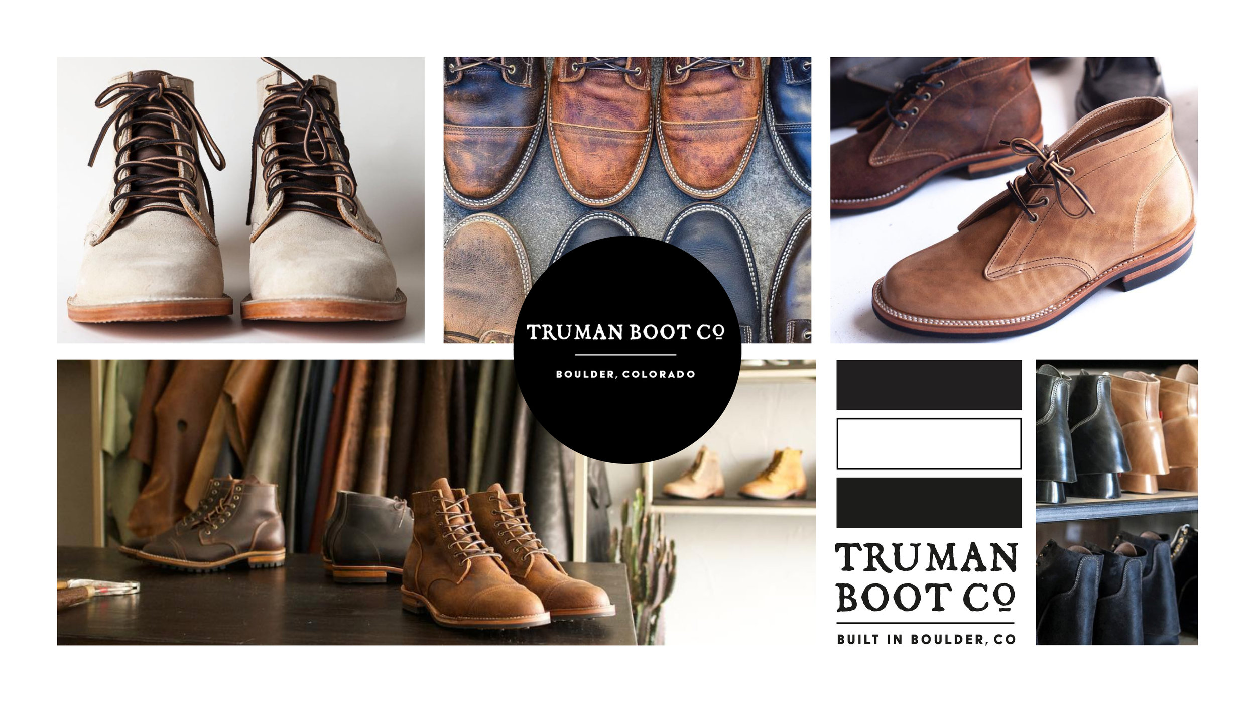 SW Designs used re-worked the Truman Boot logo, and designed promotional cards, business cards, hang tags and other marketing materials.