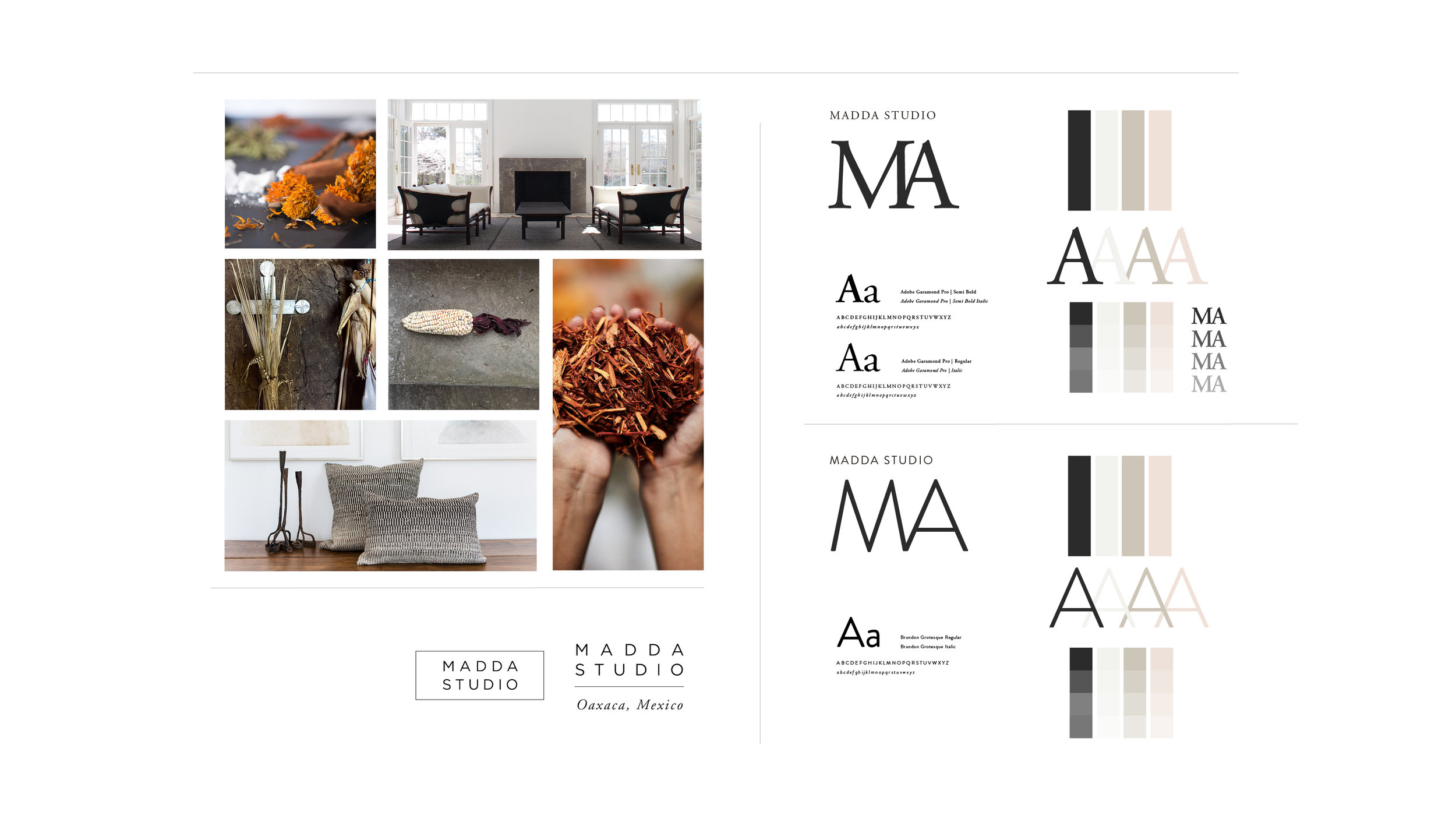 Stephanie Wencl, graphic designer for SW Designs created Madda Studio's Logo for their luxury interior designs.
